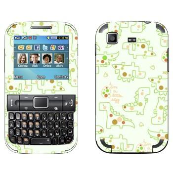 Виниловая наклейка «Милые динозаврики» на телефон Samsung C3222 Duos