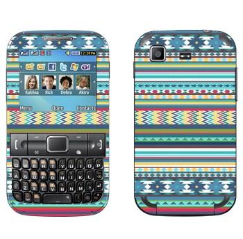Виниловая наклейка «Орнамент Свитер вязаный» на телефон Samsung C3222 Duos
