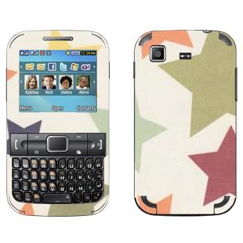 Виниловая наклейка «Орнамент звезды» на телефон Samsung C3222 Duos