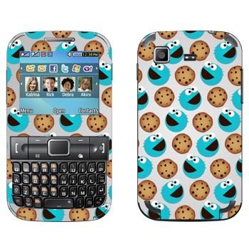 Виниловая наклейка «Печеньковое чудовище - орнамент» на телефон Samsung C3222 Duos