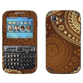 Виниловая наклейка «Пейсли коричневый» на телефон Samsung C3222 Duos