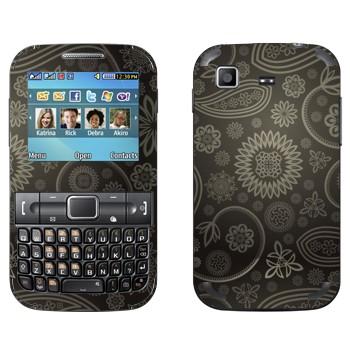 Виниловая наклейка «Пейсли серый» на телефон Samsung C3222 Duos