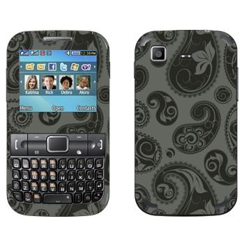 Виниловая наклейка «Пейсли узор серо-черный» на телефон Samsung C3222 Duos