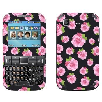 Виниловая наклейка «Розы на черном» на телефон Samsung C3222 Duos