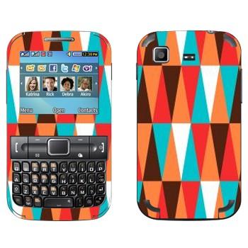 Виниловая наклейка «Шаблон треугольников» на телефон Samsung C3222 Duos
