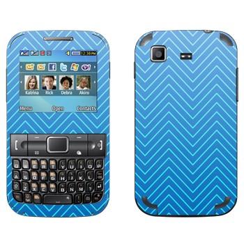 Виниловая наклейка «Синие зигзаги» на телефон Samsung C3222 Duos