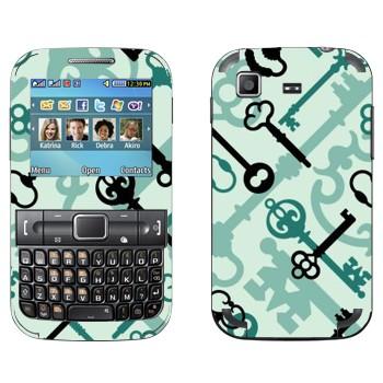 Виниловая наклейка «Старые ключи» на телефон Samsung C3222 Duos