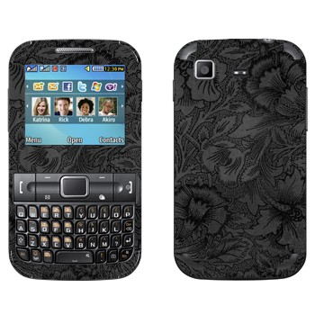Виниловая наклейка «Темно-серые цветы» на телефон Samsung C3222 Duos