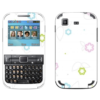 Виниловая наклейка «Цветки минимализм» на телефон Samsung C3222 Duos