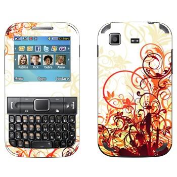 Виниловая наклейка «Цветочные стебли» на телефон Samsung C3222 Duos