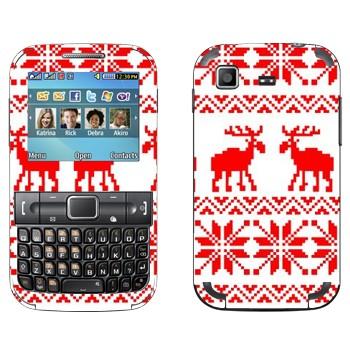 Виниловая наклейка «Вязанные два оленя свитер» на телефон Samsung C3222 Duos