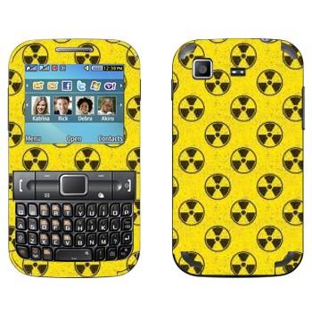 Виниловая наклейка «Значки радиация» на телефон Samsung C3222 Duos