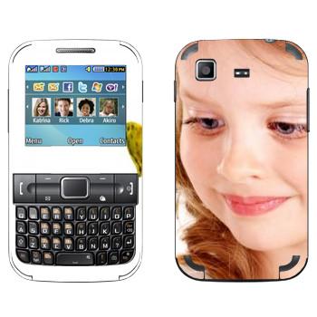 Виниловая наклейка «Девочка» на телефон Samsung C3222 Duos