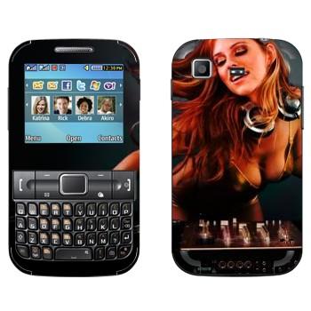 Виниловая наклейка «Девушка Диджей» на телефон Samsung C3222 Duos