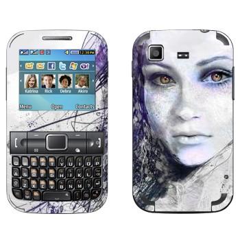 Виниловая наклейка «Девушка карандашом» на телефон Samsung C3222 Duos