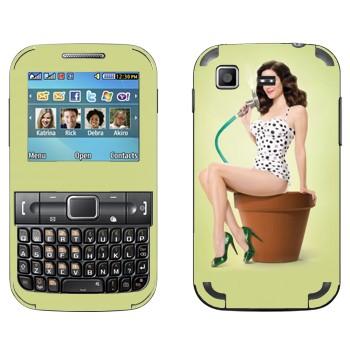 Виниловая наклейка «Девушка в стиле ретро» на телефон Samsung C3222 Duos
