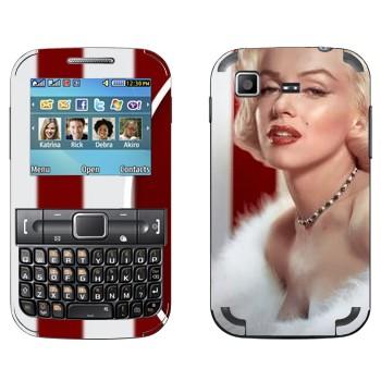 Виниловая наклейка «Мэрилин Монро» на телефон Samsung C3222 Duos