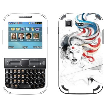 Виниловая наклейка «Чудо-Женщина» на телефон Samsung C3222 Duos