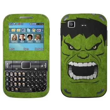 Виниловая наклейка «Халк рисованный» на телефон Samsung C3222 Duos