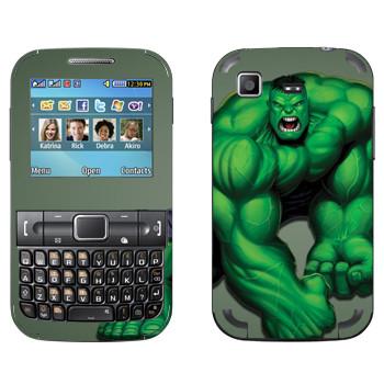 Виниловая наклейка «Халк» на телефон Samsung C3222 Duos