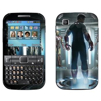 Виниловая наклейка «Железный человек 3» на телефон Samsung C3222 Duos