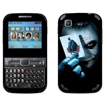 Виниловая наклейка «Джокер» на телефон Samsung C3222 Duos