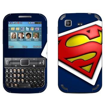 Виниловая наклейка «Супермэн» на телефон Samsung C3222 Duos