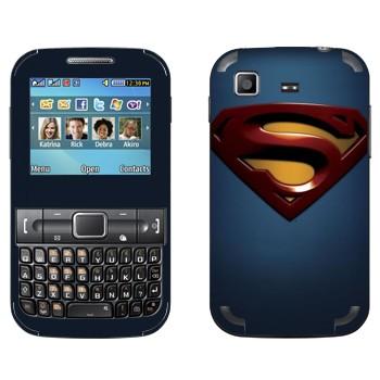 Виниловая наклейка «Супермэн эмблема» на телефон Samsung C3222 Duos