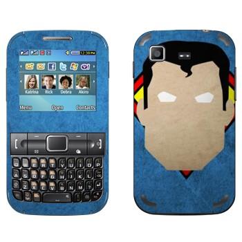 Виниловая наклейка «Супермен рисованный» на телефон Samsung C3222 Duos