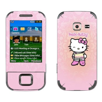 1a023303ef451 Виниловая наклейка «Hello Kitty подмигивает» на телефон Samsung C3752 Duos