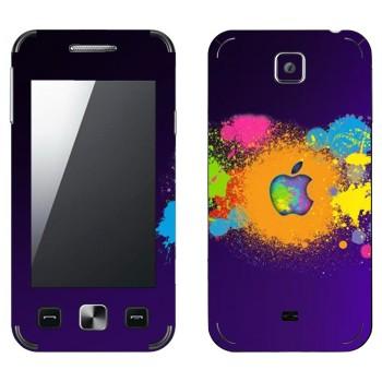 Виниловая наклейка «Apple пятна краски» на телефон Samsung C6712 Star II Duos
