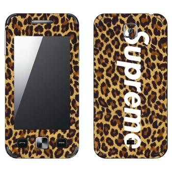 Виниловая наклейка «Supreme леопард» на телефон Samsung C6712 Star II Duos
