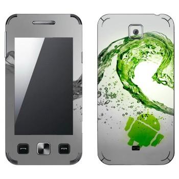 Виниловая наклейка «Андроид зеленая волна» на телефон Samsung C6712 Star II Duos