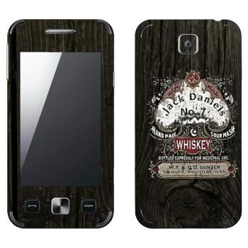 Виниловая наклейка «Эмблема Jack Daniels на дубовой бочке» на телефон Samsung C6712 Star II Duos