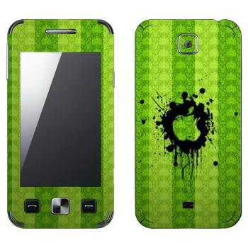 Виниловая наклейка «Лого Apple на зеленой стене» на телефон Samsung C6712 Star II Duos