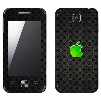 Виниловая наклейка «Лого Apple зеленое стекло» на телефон Samsung C6712 Star II Duos