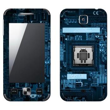 Виниловая наклейка «Логотип Android на материнской плате» на телефон Samsung C6712 Star II Duos