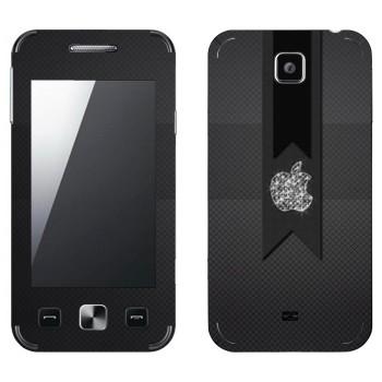 Виниловая наклейка «Логотип Apple алмазный» на телефон Samsung C6712 Star II Duos
