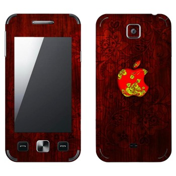 Виниловая наклейка «Логотип Apple хохломой» на телефон Samsung C6712 Star II Duos