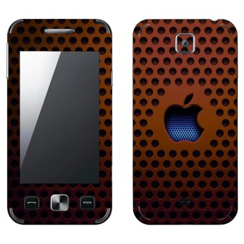 Виниловая наклейка «Логотип Apple на коричневой сетке» на телефон Samsung C6712 Star II Duos