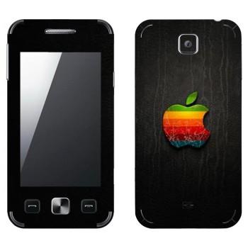 Виниловая наклейка «Логотип Apple радужное яблоко» на телефон Samsung C6712 Star II Duos