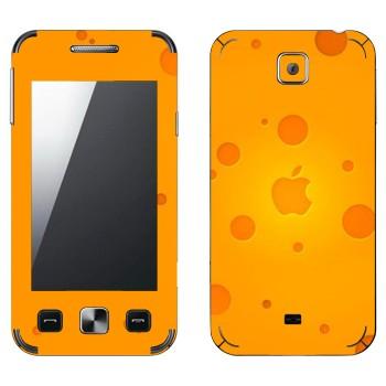Виниловая наклейка «Логотип Apple сырный» на телефон Samsung C6712 Star II Duos