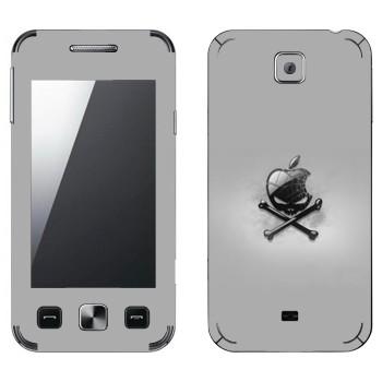 Виниловая наклейка «Логотип Apple в виде черепа с костями» на телефон Samsung C6712 Star II Duos