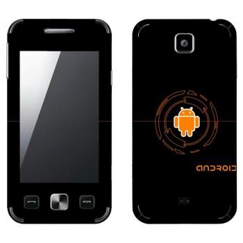 Виниловая наклейка «Оранжевый Android» на телефон Samsung C6712 Star II Duos