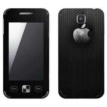 Виниловая наклейка «Стальной логотип Apple» на телефон Samsung C6712 Star II Duos