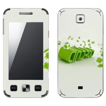 Виниловая наклейка «Зеленая надпись Android» на телефон Samsung C6712 Star II Duos