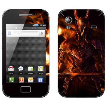 Виниловая наклейка «Dark Souls Воин» на телефон Samsung Galaxy Ace