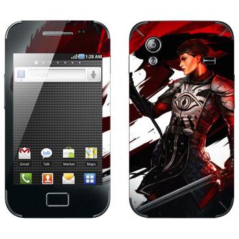 Виниловая наклейка «Dragon Age - Девушка воин» на телефон Samsung Galaxy Ace