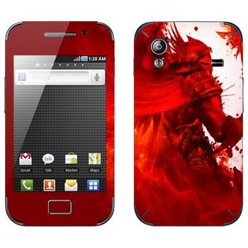 Виниловая наклейка «Dragon Age - Красный рыцарь» на телефон Samsung Galaxy Ace