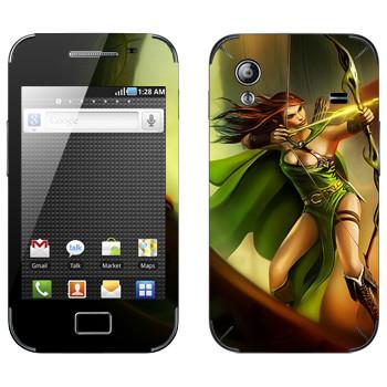 Виниловая наклейка «Drakensang archer» на телефон Samsung Galaxy Ace
